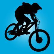 Mountain biker Stock Illustration