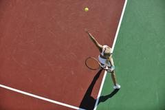Stock Photo of young woman play tennis