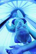 Beauty and spa solarium treatment Stock Photos