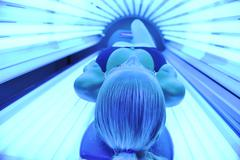 solarium treatment - stock photo