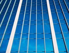 tall modern office buildings - stock photo