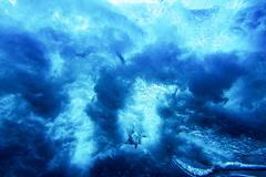 water texture under water - stock photo