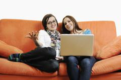 internet surfing and everyday computing - stock photo