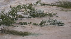 china yellow river flowing water - stock footage