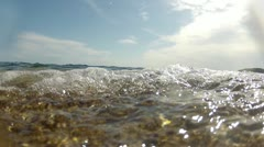 Waves and seabed Stock Footage