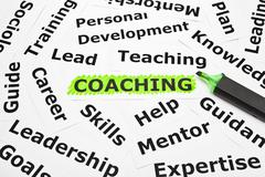 Coaching with other related words Stock Photos