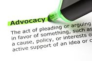 Stock Photo of advocacy highlighted in green