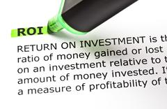 Roi highlighted in green Stock Photos