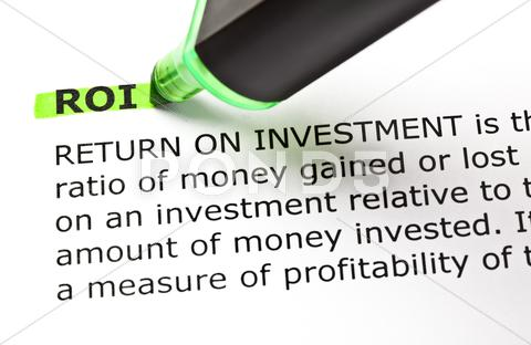 Stock photo of roi highlighted in green