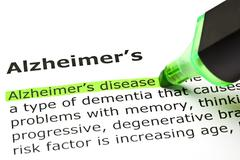 'alzheimer's disease', under 'alzheimer's' - stock photo
