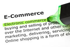'electronic commerce', under 'e-commerce' - stock photo