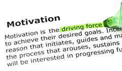 'driving force', under 'motivation' - stock photo