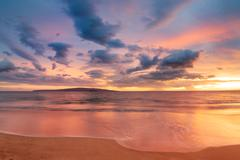 hawaiian sunset - stock photo