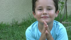 Clapping Little Boy Stock Footage