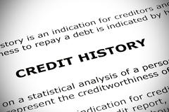 Stock Photo of credit history