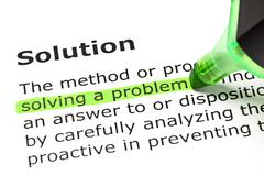 'solving a problem', under 'solution' - stock photo