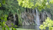 Waterfall and Lake Stock Footage