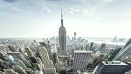 Stock Video Footage of New York City Timelapse (fisheye)