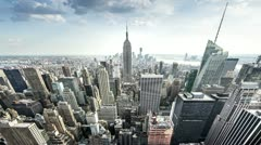 New York City Timelapse (fisheye) - stock footage