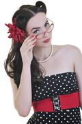 pinup fashion - stock photo