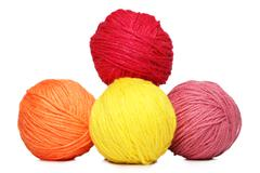 Four Colorful Yarn Balls.jpg - stock photo