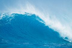Beautiful blue ocean wave Stock Photos