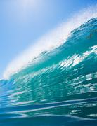 Stock Photo of blue ocean wave