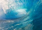 Blue ocean wave Stock Photos
