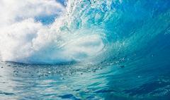 Blue ocean wave Stock Photos