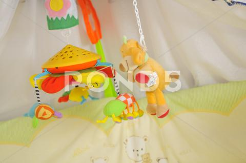 Stock photo of baby bed
