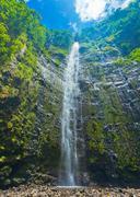 Beautiful lush waterfall in hawaii Stock Photos