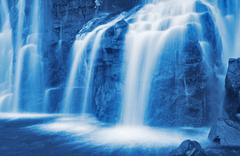 waterfall - stock photo