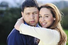 Stock Photo of happy couple outdoor