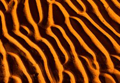Sand pattern, interesting abstract texture Stock Photos