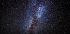 stars in the night sky, milky way galaxy - stock photo