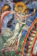 Archiangel Gabriel,frescoe, Kurbinovo,Macedonia Stock Photos