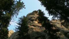 A view up a rock Stock Footage