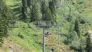 Husband wife summer mountain resort ski lift HD 2773 Stock Footage