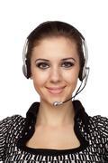 Cheerful customer service operator Stock Photos