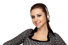 customer support service operator - stock photo