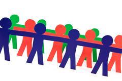 Stock Photo of people group doing teamwork