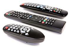Stock Photo of three remote controls