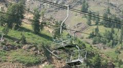 Mountain summer resort friends ski lift HD 2816 Stock Footage