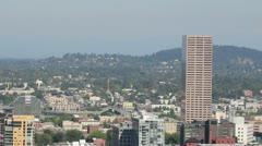 Portland Oregon Northwest Downtown Skyline Cityscape Stock Footage