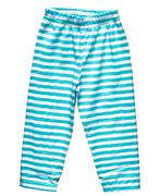 Striped blue summer pants for boys Stock Photos