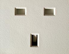 Stock Photo of british plug socket