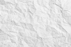 crumpled paper - horizontal background - stock photo