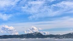 A mountain panorama - carpathians Stock Photos