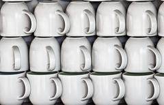 Stock Photo of ceramic cups on market stall