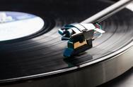 Vinyl analog record player cartridge and lp Stock Photos
